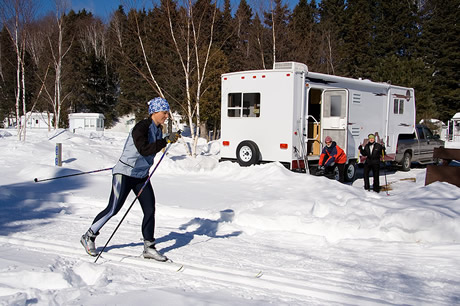 winter campgrounds in michigan