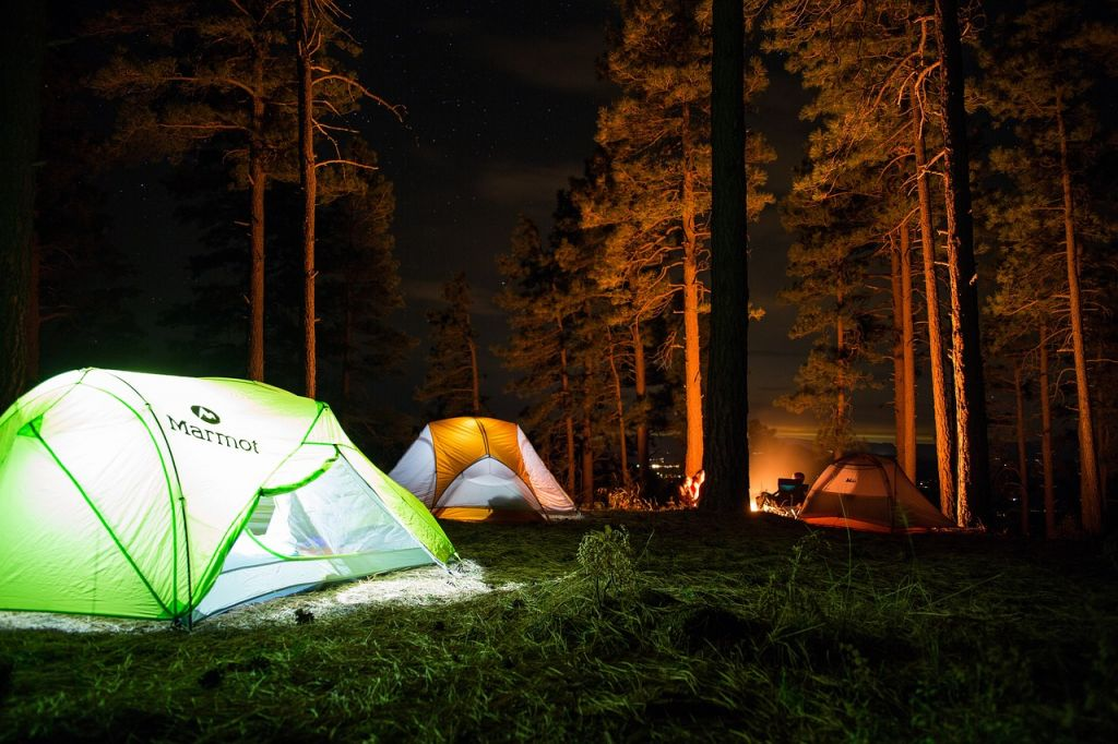 tent sites at camp michigan