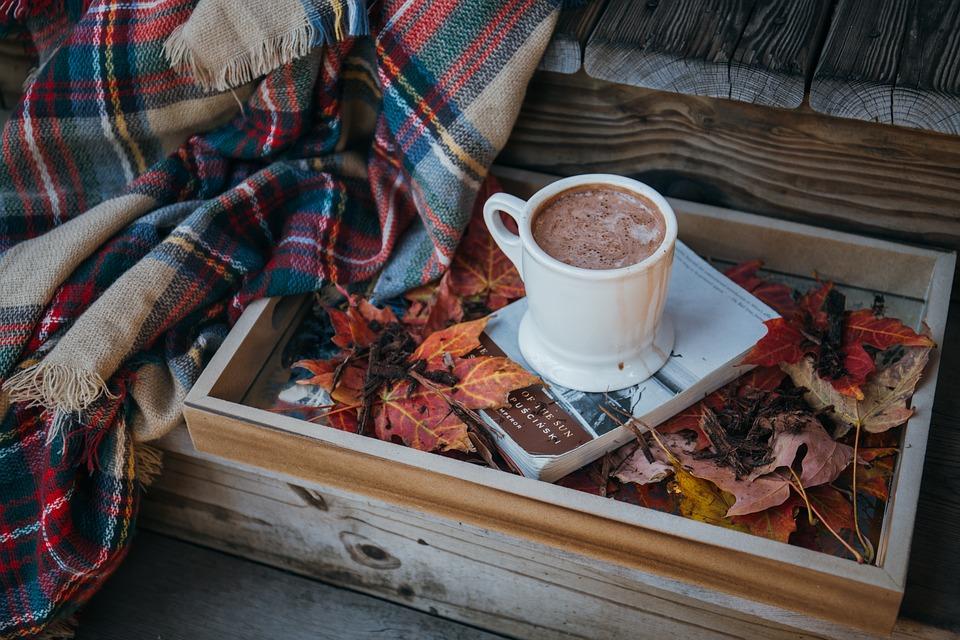 hot chocolate around the campfire